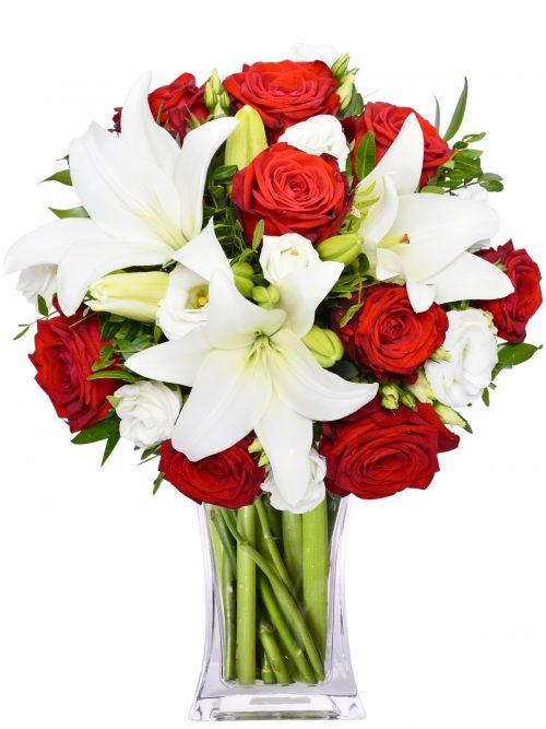 dostava cvijeća ruže i ljiljani